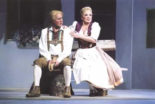 Edward Rendall, as Mathias Freudhofer, and Nancy Gibson, as Martha