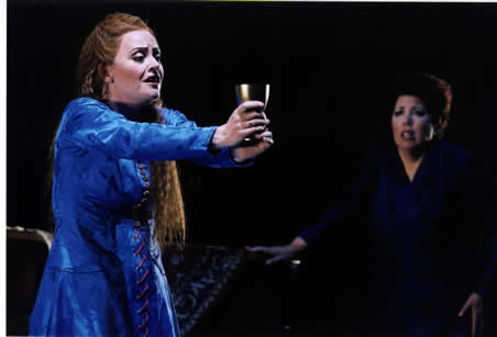 Evelyn Herlitzius as Isolde & Donna Morein as Brangäne